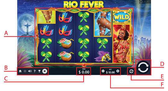 Tombol Navigasi Rio Fever